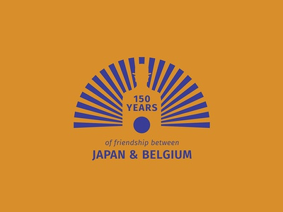 Logo 150 years Japan & Belgium