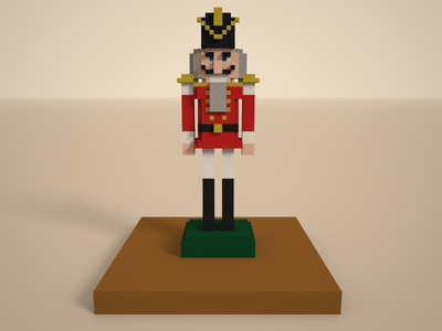 🔶 Voxel Project: The Nutcracker holiday christmas nutcracker voxelart voxel speedart magicavoxel 3d