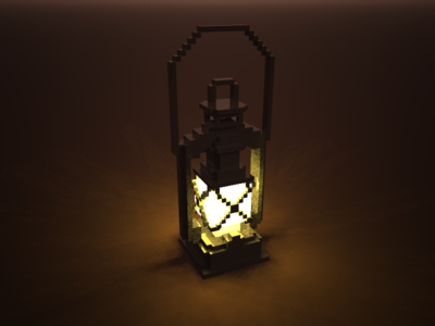 🔶 Voxel Project: The Oil Lamp speedart lights brown light oillamp voxelart voxel magicavoxel 3d