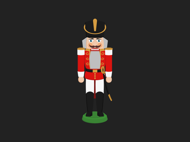 Nutcracker vector artwork vector art vector xmas holidays christmas card christmas