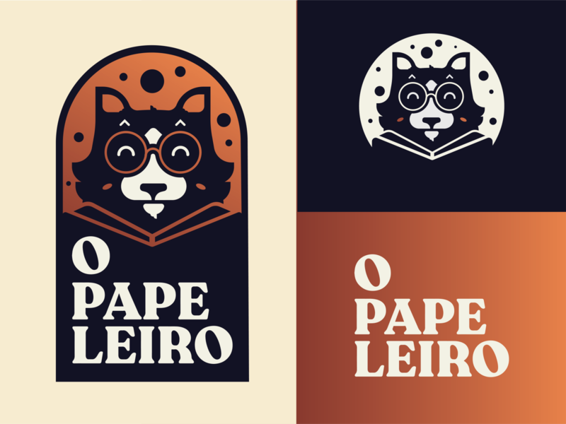 O papeleiro logodesign app icon typography logo branding brand illustration graphic design