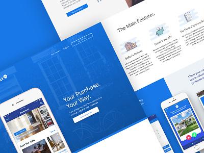 Homz direct - Landing Page people clean design graphic ux ui details landing page