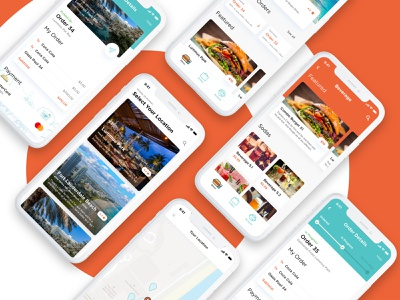 Eazyo concept branding color delivery food food app ux ui product brand graphic design