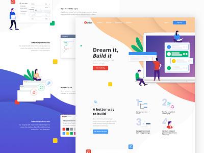 Landing page Details icon concept design ux color website illustration landing page ui