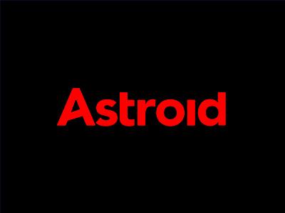 Astroid Logo type typography color logo design design concept ui branding graphic brand logo