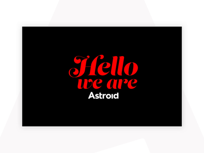 Astroid Pitch Deck type pitch deck typography branding design vector illustrator graphic design branding brand