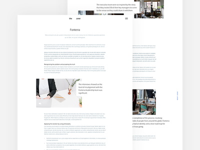 The Zone - Case Study Detail simple minimal quote detail page interface user design web case study