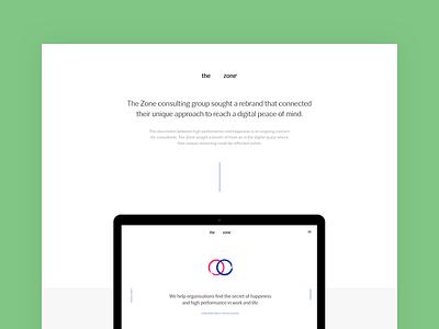 The Zone - Behance Case Study website desktop responsive mobile behance study case ux ui design web