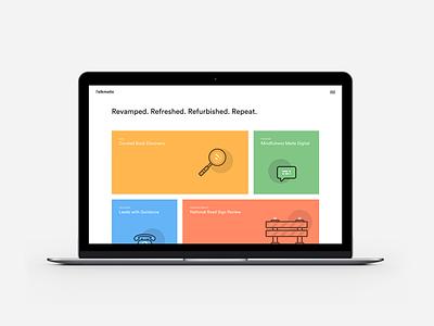 Website Redesign minimal ux ui responsive mobile desktop redesign web design website