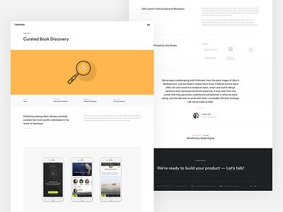 Case Study - Detail minimal desktop ux ui responsive mobile website design web detail study case