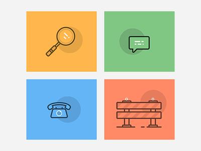 Case Illustrations responsive website interface user design web flat vector illustration