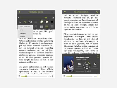 Alexi - Reader progress menu responsive interface user design application app reader