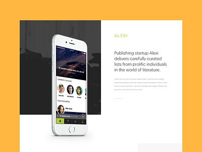 Alexi - Behance Case Study website ux ui study ios application app responsive desktop design case behance