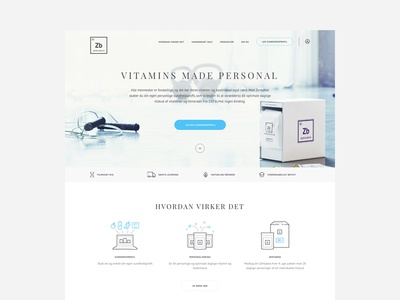 Zentabox - Homepage subscription orders web design vitamin vitamins icons minimal clean health