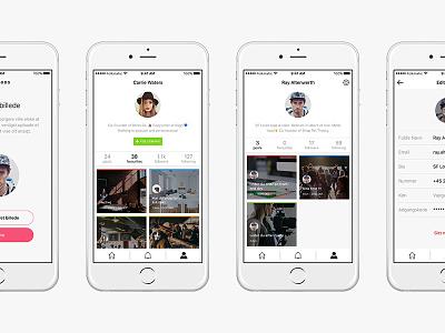 Hoods - Profile profile web design user moodboard brand apple ios application app