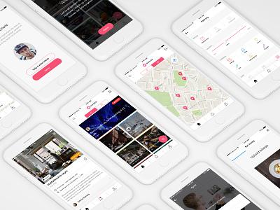 Hoods - User Interface profile web design user moodboard brand apple interface ios application app