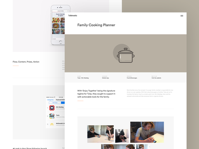 Case Study - Min Maddag cooking experience interface user ui page design web case study