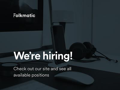 We are hiring! agency website hiring ad job careers