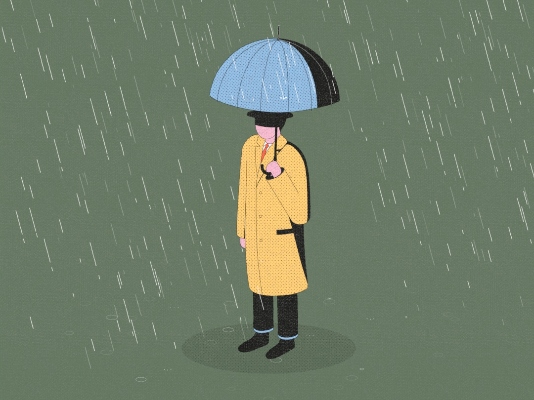 UMBRELLA umbrellas bad day winter parallel studio badass raincoat man weather umbrella rain