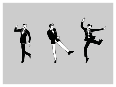 Charleston Dancer Sketches sketch casual jump illustration drawing parallel dance school suit mustache charleston dance party dance