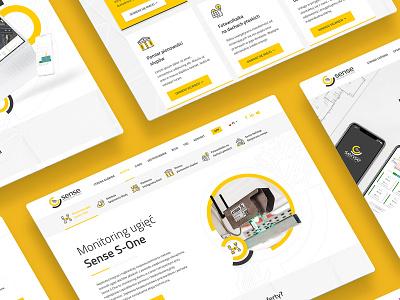 Sense Monitoring webdesign website design identity branding