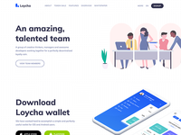 Loycha - Cryptocurrency landing page
