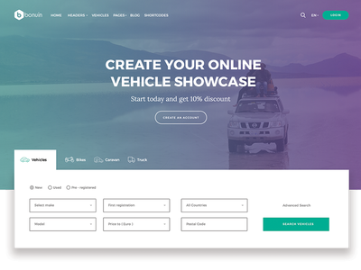 Car Listing Theme homepage simple search ui car listing theme themeforest