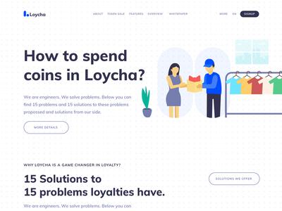 Loycha - Cryptocurrency Landing Page ui landing page cryptocurrency loycha
