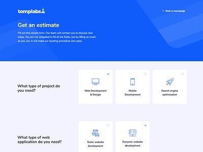 Get a free estimate UI creative blue icons ui free-estimate qoute