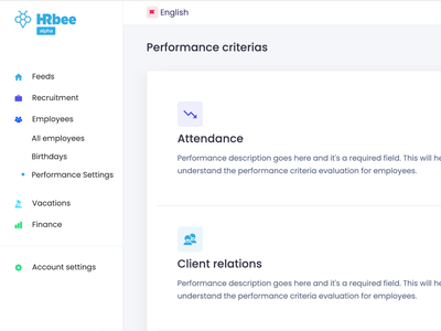 Performance criteria settings crm hr cloud settings criteria performance hr