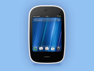 Homage to Veer sketch phone device illustration palm veer webos