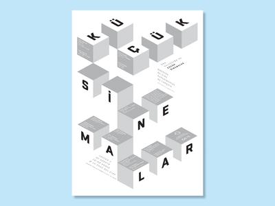 Small Cinemas — Film Screening Poster events event films film cinema typography graphic design design poster