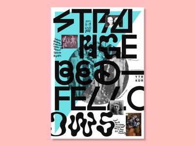 Strange Bedfellows artists artist exhibition arts art events event typography graphic design design poster