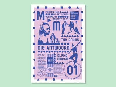 Modern Man Party Poster Series