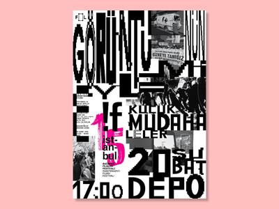 Demonstration of Image [Görüntünün Eylemi] festival events event films film cinema typography graphic design design poster