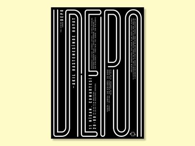Depo type bw monochrome events event films film cinema typography graphic design design poster