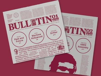 Number6 Bulletins cinema colors color red typography editorial design editorial design bulletin newspaper