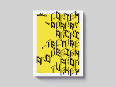 Contemporary Architecture and Design from Turkey type typography colors graphic architecture art exhibition biennial editorial design cover magazine