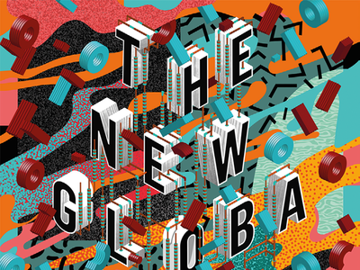 The New Globalization — Poster Detail graphic design typography design poster design posters poster