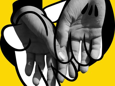 Immigrant Mickey Hands for Graphic Design Festival Breda graphic design illustration design poster design posters poster