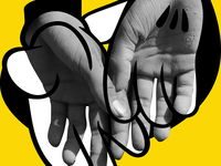 Immigrant Mickey Hands for Graphic Design Festival Breda