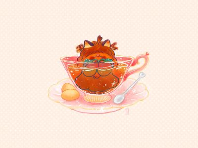 Elle Tea digital painting doodle kawaii cute illustration