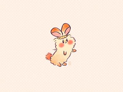 Moufla oc original character character design illustration bunny character bunny illustration bunny character design picture book doodle kawaii cute illustration