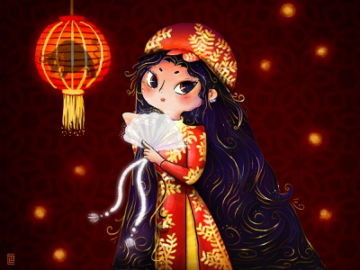 2021 Lunar New Year DTIYS draw this in your style dtiys year of the cow year of the ox happy moo year vietnamese new year chinese new year 2021 logo lunar new year lunarnewyear picture book digital painting illustration