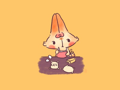 Baking Time character concept character art character development original character oc bunny character design picture book digital painting doodle kawaii cute illustration