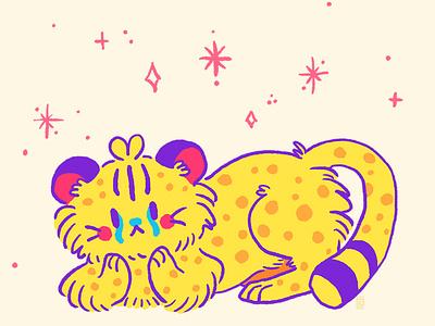 Cheetah Rebound cheetah character design picture book digital painting doodle kawaii cute illustration