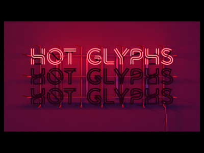 Radiate - Hot Glyphs type motion loop kinetic neon font animated animography after effects typeface typography
