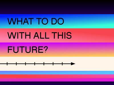 What to do with all this future? motion kinetic loop type font animated animography after effects typeface typography