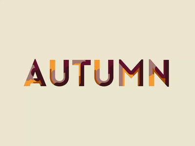 Autumn colors motion kinetic type fall colors fall autumn font animated animography after effects typeface typography