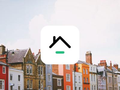 Logo created for a property app proptech app logo